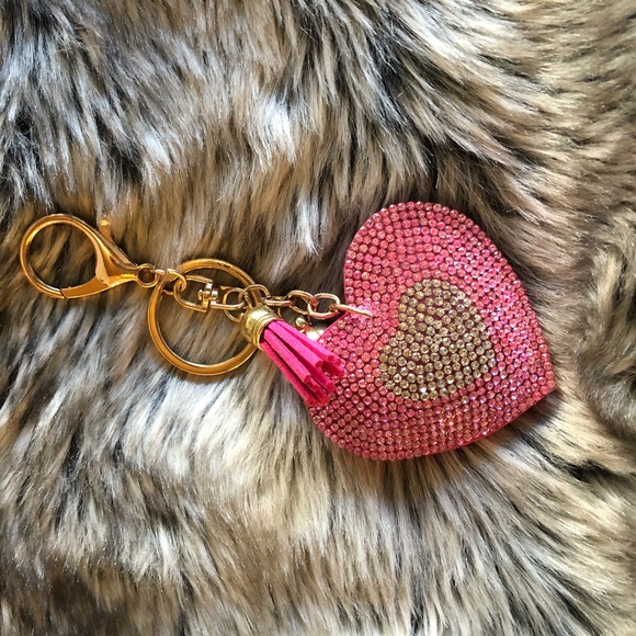 Accessories - Pink Heart Key Chain / Bag Candy 💗